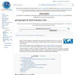 Copyright et droit d'auteur (int)
