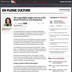 Du copyright anglo-saxon et du droit d'auteur à la française