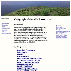 Copyright-friendly Resources