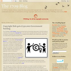Copyright Hub gets £150,000 Government funding