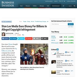 Stan Lee Media Sues Disney For Billions In Alleged Copyright Infringement