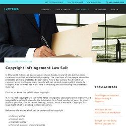 Copyright Infringement Law Suit