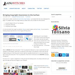 Bringing Copyright Awareness to the Surface