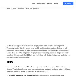 Copyright Law: 12 Dos and Don'ts - Daily Blog Tips
