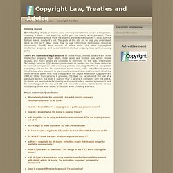 Copyright Law, Treaties and Advice