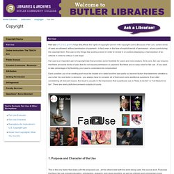 Fair Use - Copyright - LibGuides at Butler Community College