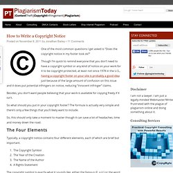 How to Write a Copyright Notice