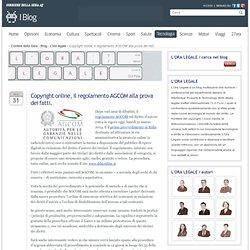 Copyright online, il regolamento AGCOM alla prova dei fatti.