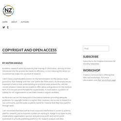 Copyright and Open Access - NZ Commons