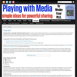 Copyright - Playing with Media