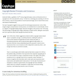Copyright Review Principles and Consensus