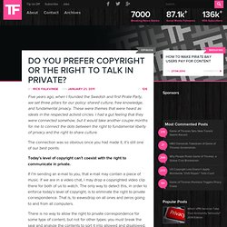 Do You Prefer Copyright or the Right to Talk in Private?