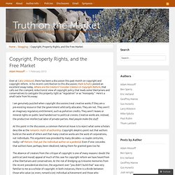 Copyright, Property Rights, and the Free Market « Truth on the Market