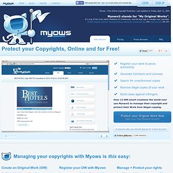 Myows | Free Online Copyright Protection