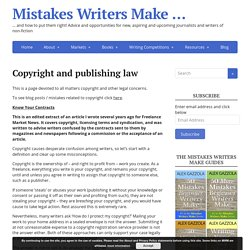 Copyright and publishing law