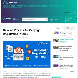 Detailed Process for Copyright Registration in India