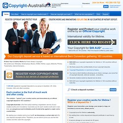 Copyright Registration Office by Public Notary in Australia certified for life in 164 countries.