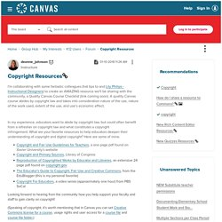 Copyright Resources - Canvas Community