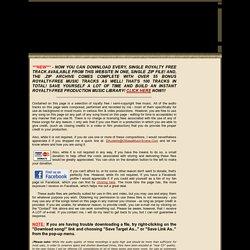 Copyright Free Music - Royalty Free Music, for Film & Video - Derek R. Audette