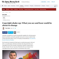Copyright shake-up: What you see and hear could be about to change