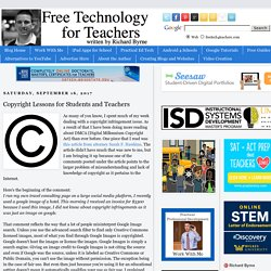 Copyright Lessons for Students and Teachers