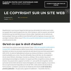 Le copyright sur un site Web - Nmédia
