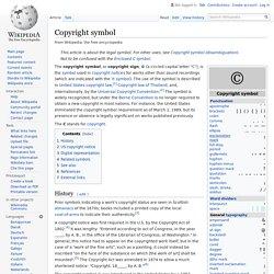Copyright symbol - Wikipedia