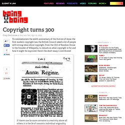 Copyright turns 300
