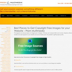 Best Places to Get Copyright Free Images for your Website