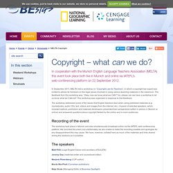 Copyright – what CAN we do?