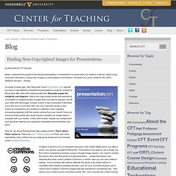 Finding Non-Copyrighted Images for Presentations