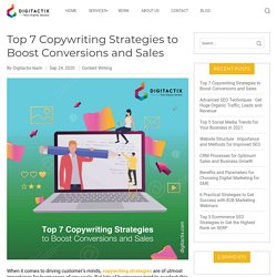 Top 7 Copywriting Strategies to Boost Conversions and Sales