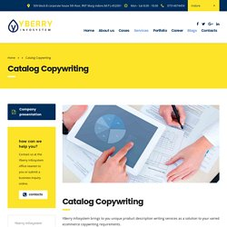 Product Copywriting & Description Services