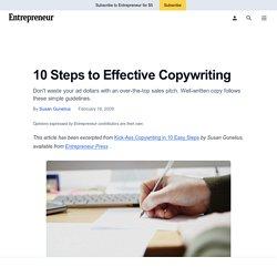 10 Steps to Effective Copywriting - Effective Copywriting - Entrepreneur.com
