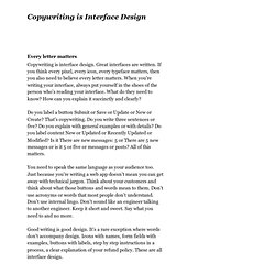Copywriting is Interface Design