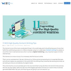 11 SEO Copywriting Tips for High-Quality Content Writing