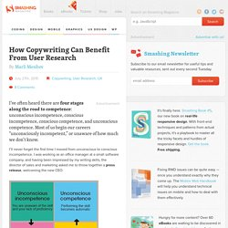 How Copywriting Can Benefit From User Research —Smashing Magazine