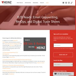 B2B Reads: Email Copywriting, RevOps, and Digital Trade Shows
