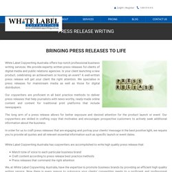 White Label Copywriting Services Australia