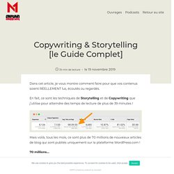 Copywriting & Storytelling [le Guide Complet] - Captain Marketing