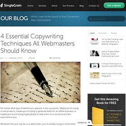 4 Essential Copywriting Techniques All Webmasters Should Know