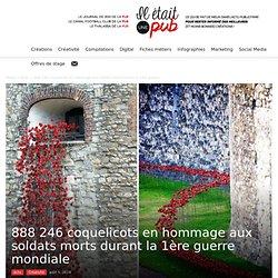 888 246 coquelicots en hommage aux soldats morts durant la 1ère guerre mondiale