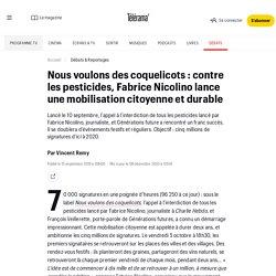 Nous voulons des coquelicots : contre les pesticides, Fabrice Nicolino lance une mobilisation citoyenne et durable - Le monde bouge