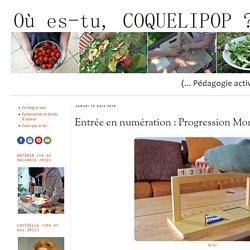 Entrée en numération : Progression Montessori