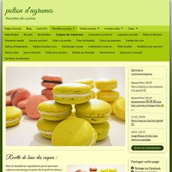 Coques de macarons - www.potiondagrumes.fr