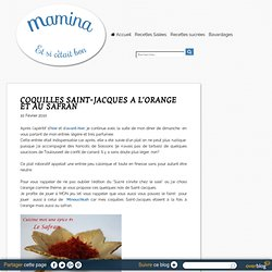 COQUILLES SAINT-JACQUES A L'ORANGE ET AU SAFRAN
