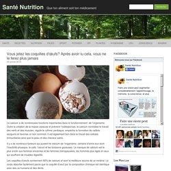 coquilles d'œufs peau et cheveux sains