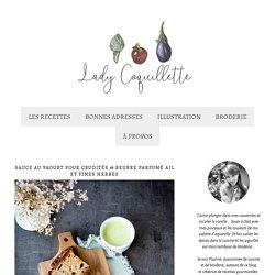 Sauce au yaourt pour crudités & beurre parfumé ail et fines herbe