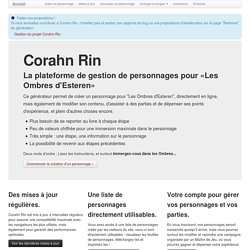 Corahn Rin - Accueil