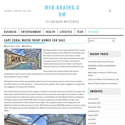 CAPE CORAL WATER FRONT HOMES FOR SALE